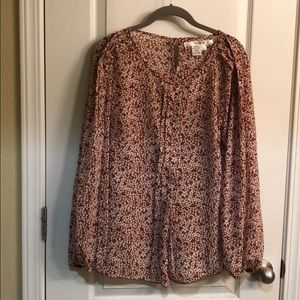 Nutmeg blouse with pleating